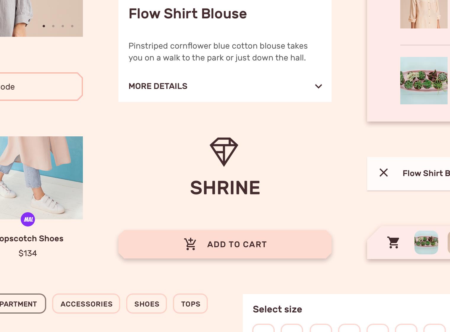Shrine - Material Design