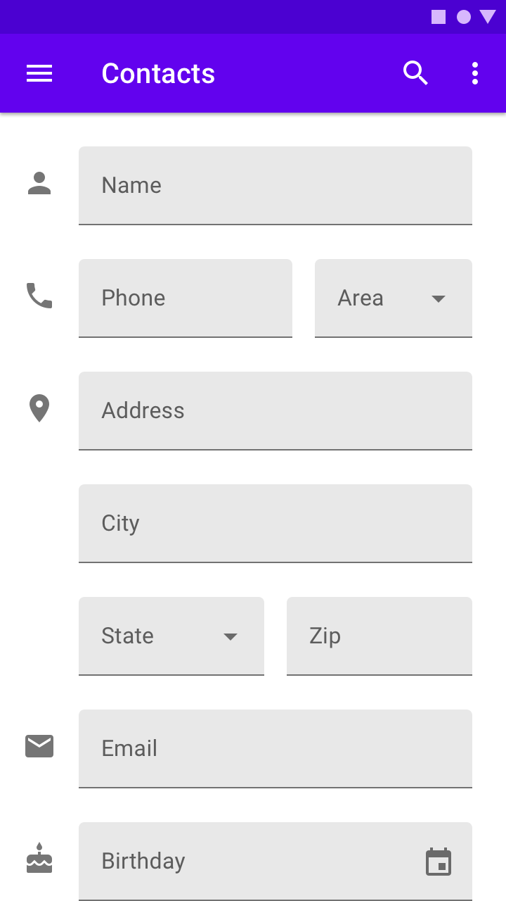 Text fields - Material Design