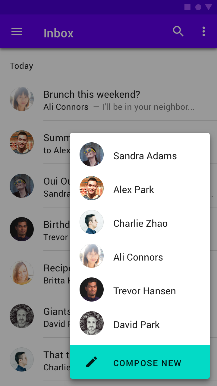 Buttons: floating action button - Material Design