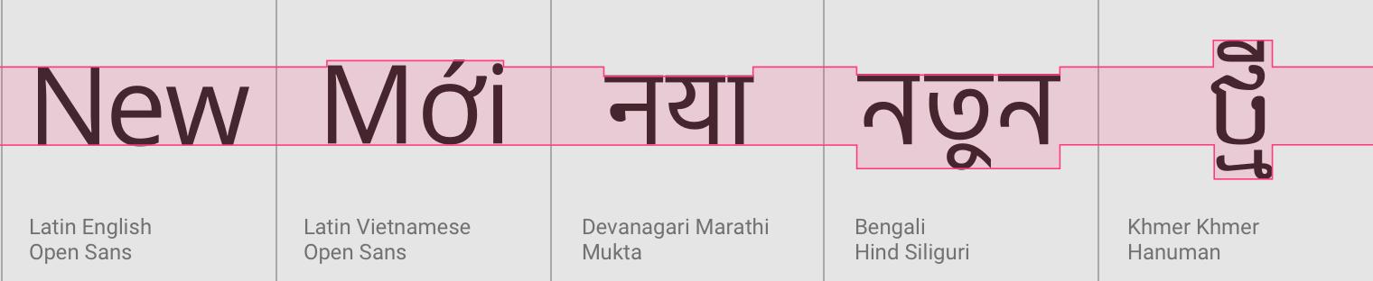 Language support - Material Design