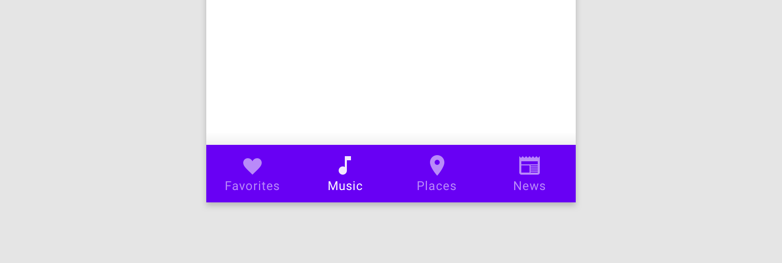 Bottom navigation - Material Design