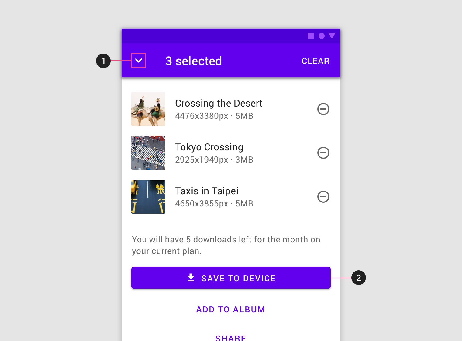 Sheets: bottom - Material Design