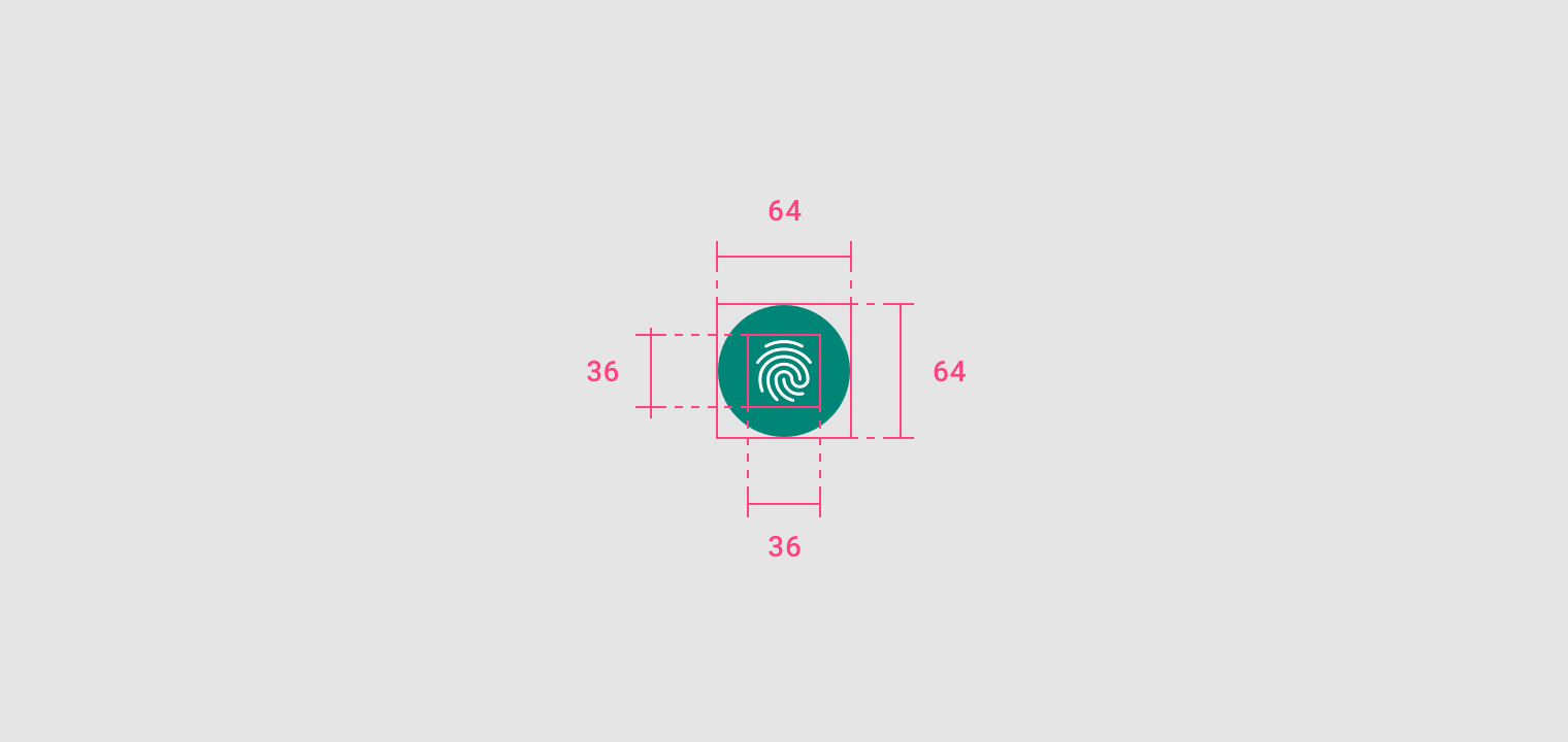 Android Menu Icon Size android fingerprint - material design