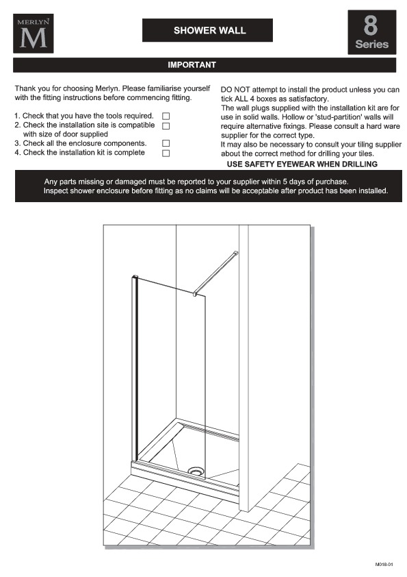 8 Series Showerwall Installation Guide