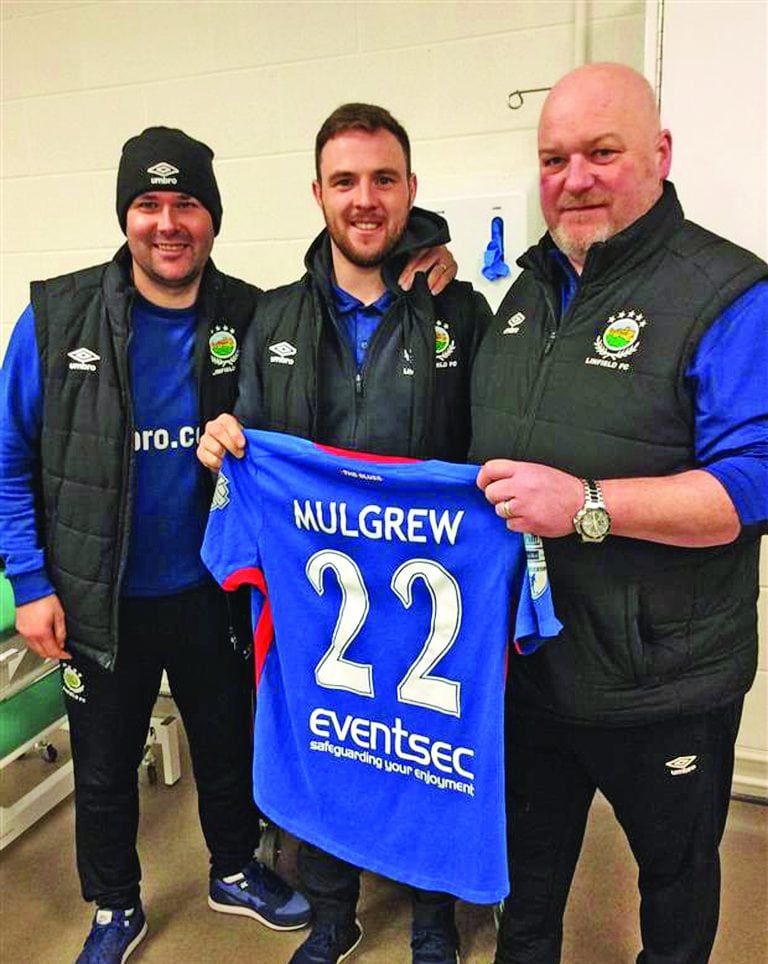 Bangor native Jamie Mulgrew plays his 500th game for Linfield