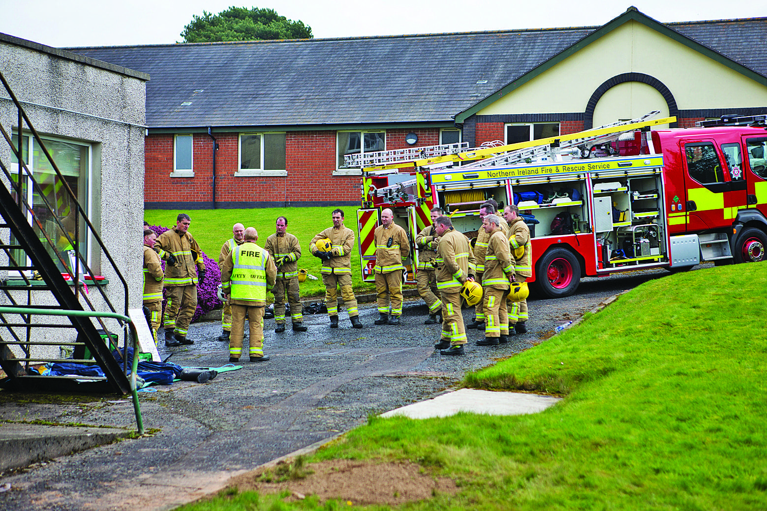 Firefighters turn up the heat for Bangor training exercise