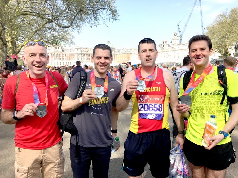 Runners head to London for a scorching hot marathon
