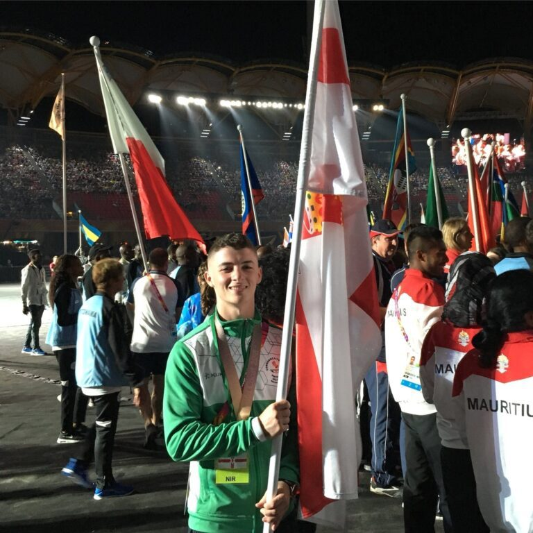 Rhys flies the flag for the Northern Ireland