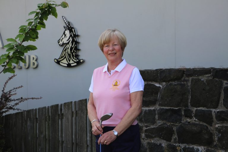 Golfer Louise celebrates hole in one at Spa