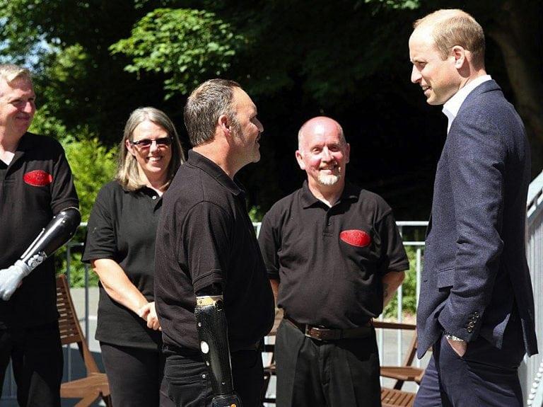 Army veteran 'honoured' to meet Duke of Cambridge