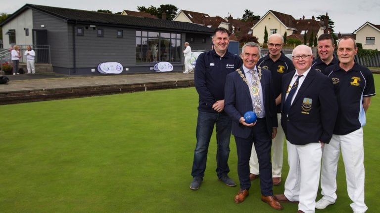 Warrenpoint club's redeveloped pavilion is opened