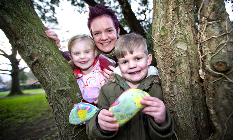 Creative art project encourages children to go out walking