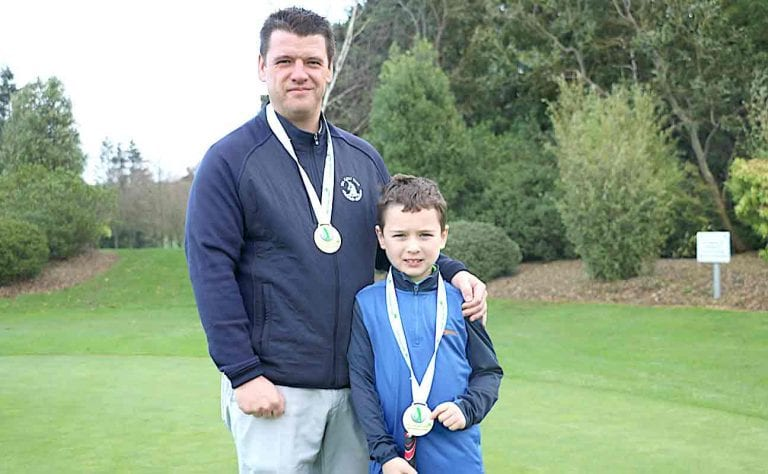Father and son bring gold medals home to Spa Golf Club