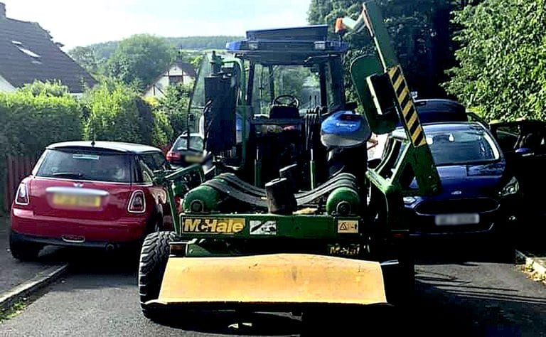 Farmer calls for double yellow lines to solve parking headache