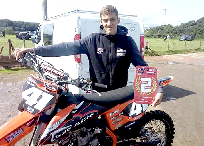 Nathan gets his first taste of British Youth Championship action
