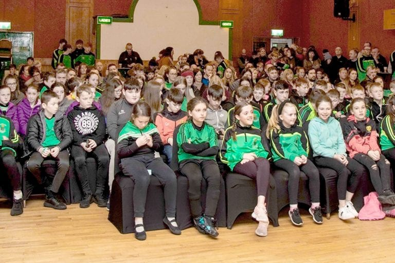 Young Castlewellan GAC members get together to celebrate the year