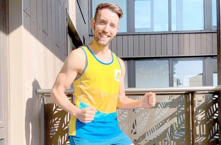 Ryan raises thousands for Marie Curie by running marathon outside London home
