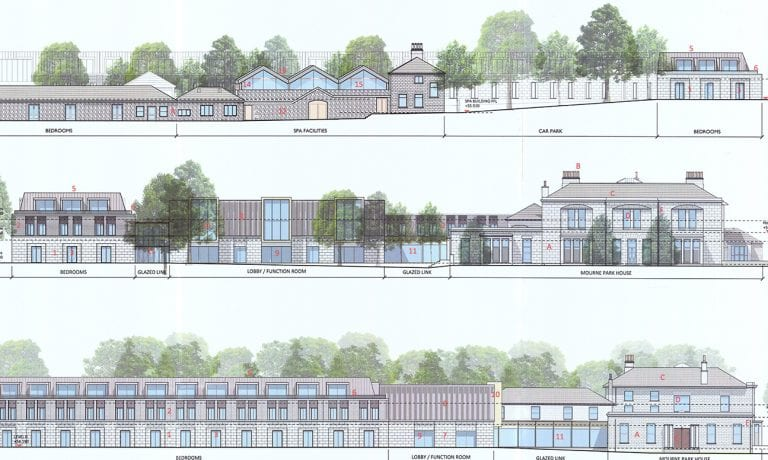 Luxury hotel plans for historic house