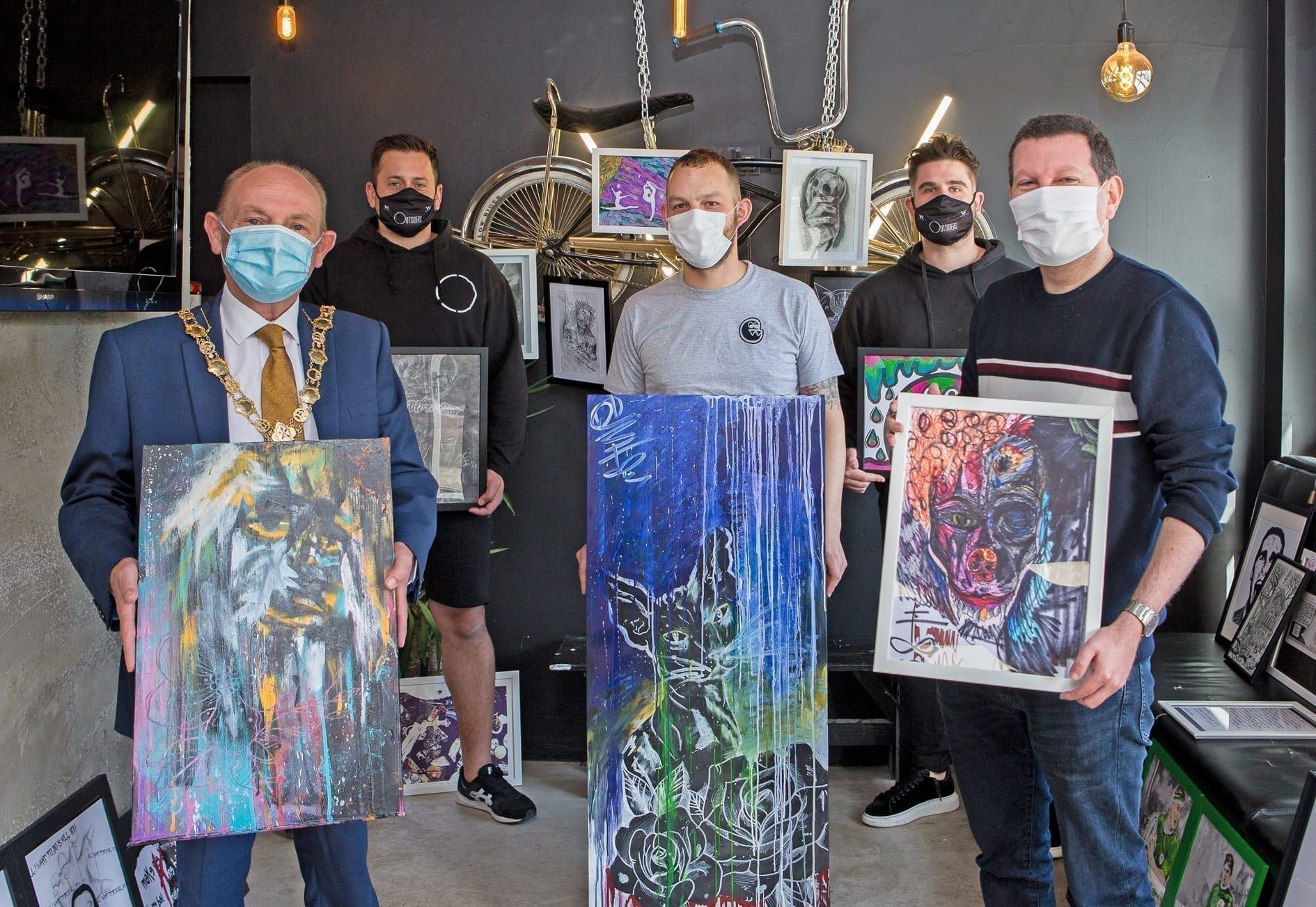 Mental health art exhibition in memory of Bangor man