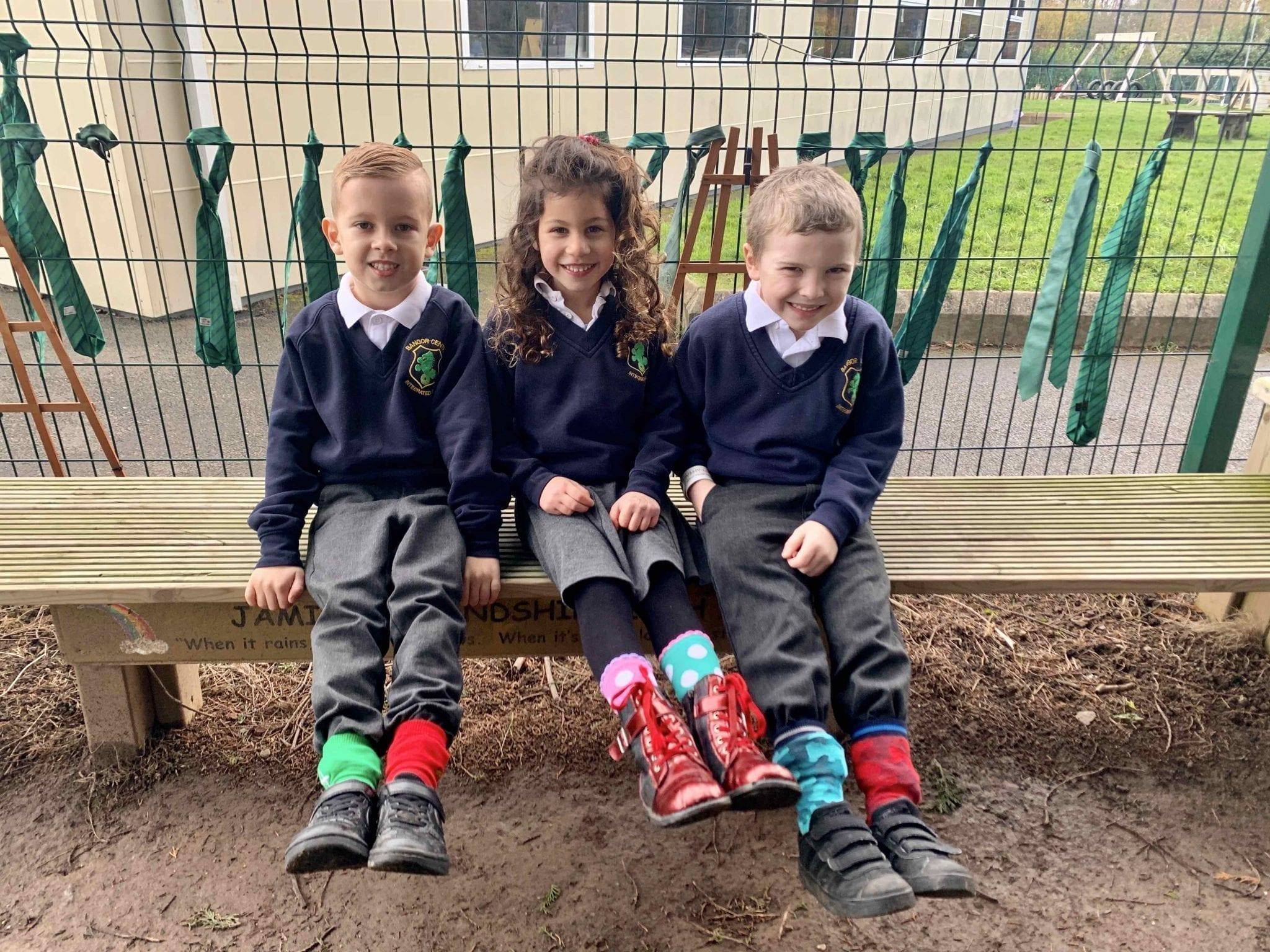 Bangor schools embrace odd sock day