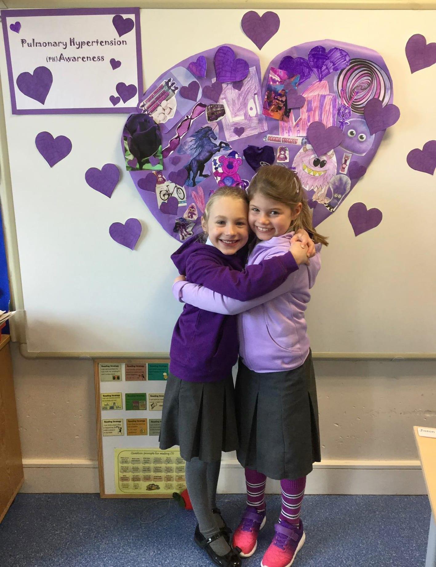 Bangor pupils turn school purple