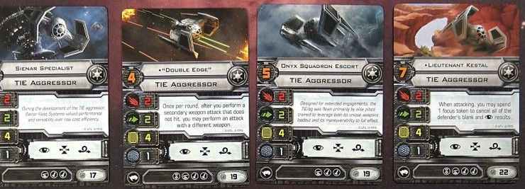 TIE Aggressor Expansion Pack X-Wing Miniatures Game Star Wars Fantasy Flig