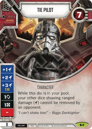 FFG Star Wars Destiny Tie Fighter card and die