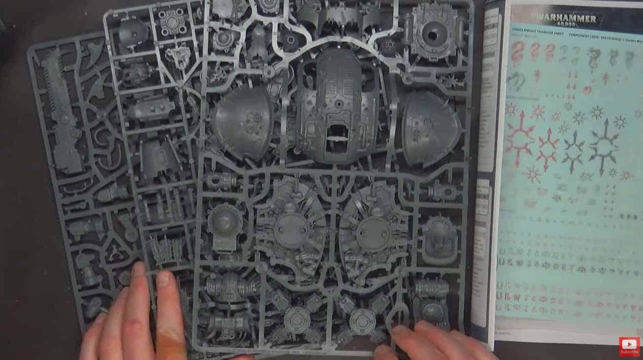 Warhammer 40K Chaos Knight Desecrator Transfer Sheet Rampager ...