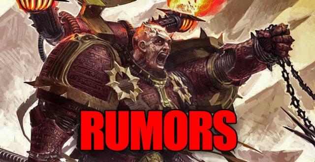 chaos rumors new wal hor warhammer games workshop