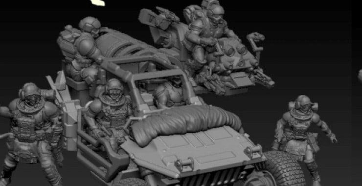 Medevac Jeep Team feature Bob Naismith's October 3D STL Files