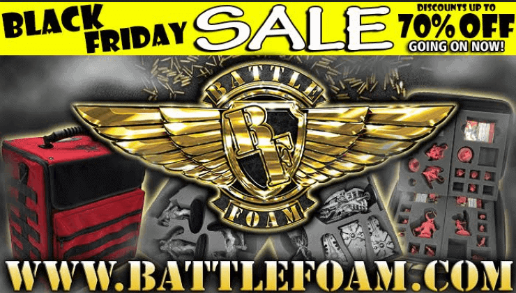 Battle Foam Black Friday Sale Is Already Live Spikey Bits 19 lbs of nightmare horror gaming. battle foam black friday sale is
