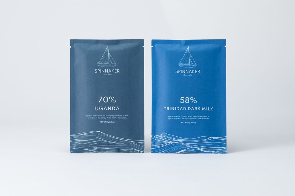 Different percentage single origin bars next to each other.