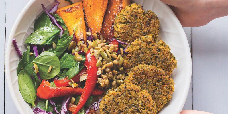 Crunchy falafel bowl