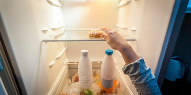 Cleaning out the refrigerator