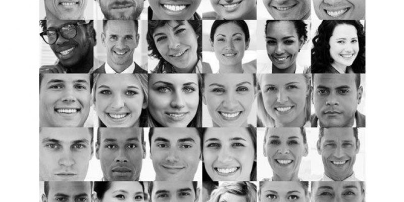 many faces smiling