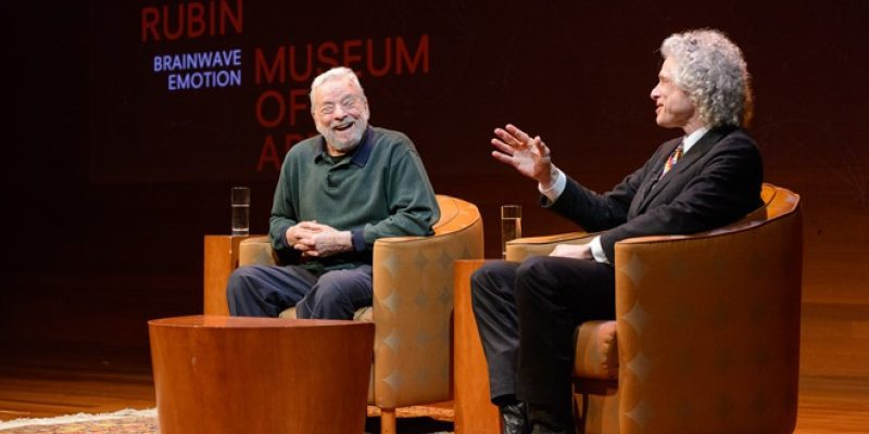 Stephen Sondheim and Stephen Pinker talking at the Rubin Museum of Art