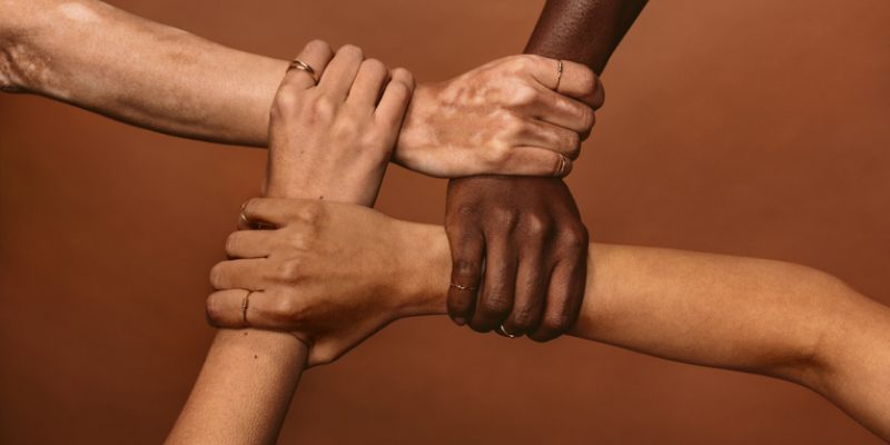 hands join together