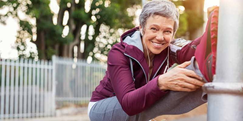Active older woman with a smile