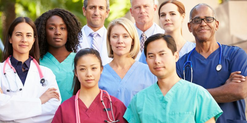Group of healthcare workers