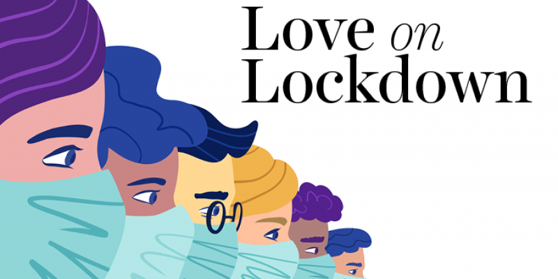 People with facemasks; love on lockdown