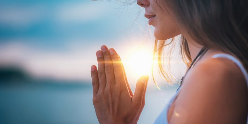 Close Up of Female Hands in Silent Prayer