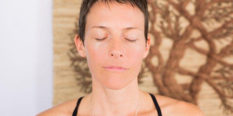 Matece Skow in meditation