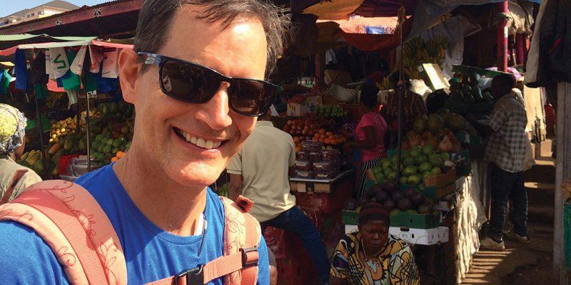 Paul Sutherland in Ugandan market