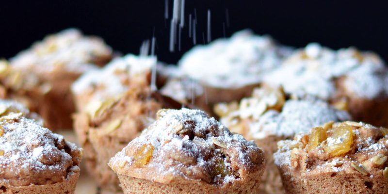 Pear and Candied Ginger Muffins