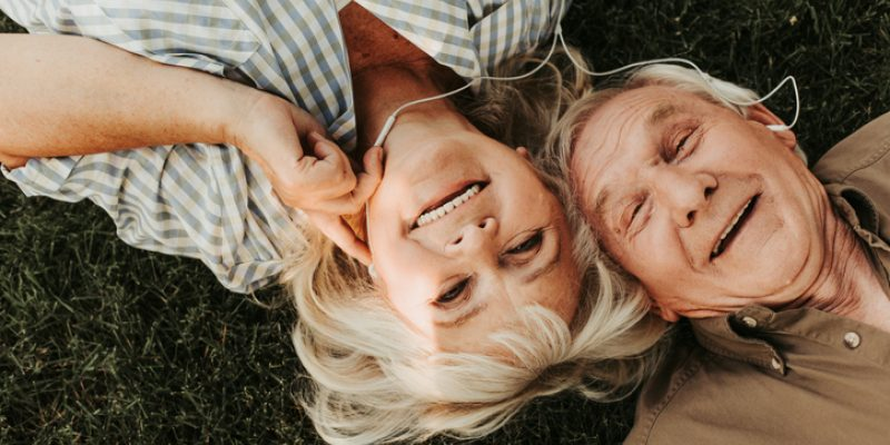 Couple reconnecting with each other through play