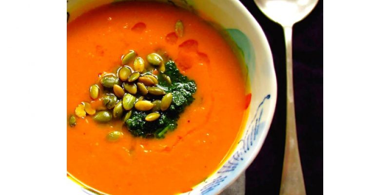 Creamy Curried Sweet Potato Soup