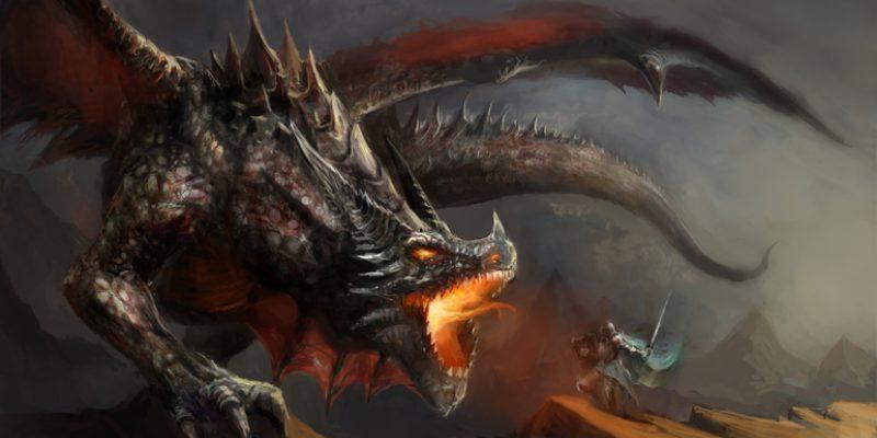boy fights dragon