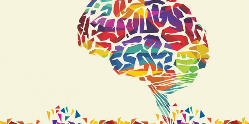 Colorful graphic of brain