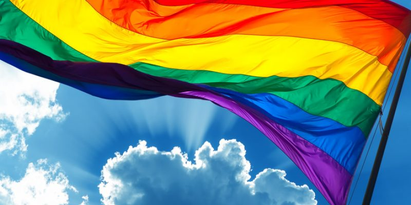 Rainbow Flag symbol of tolerance and acceptance