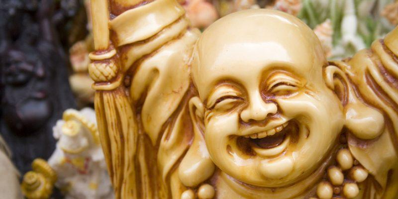Smiling buddha for buddha and kindness